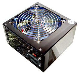 Works W655-SB 500W ATX Power Supply 24Pin SATA PCI-EX 120MM Clear Blue Fan Mirror Coating