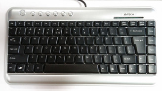 A4tech Mini X-Slim Keyboard KLS-5, USB, Silver
