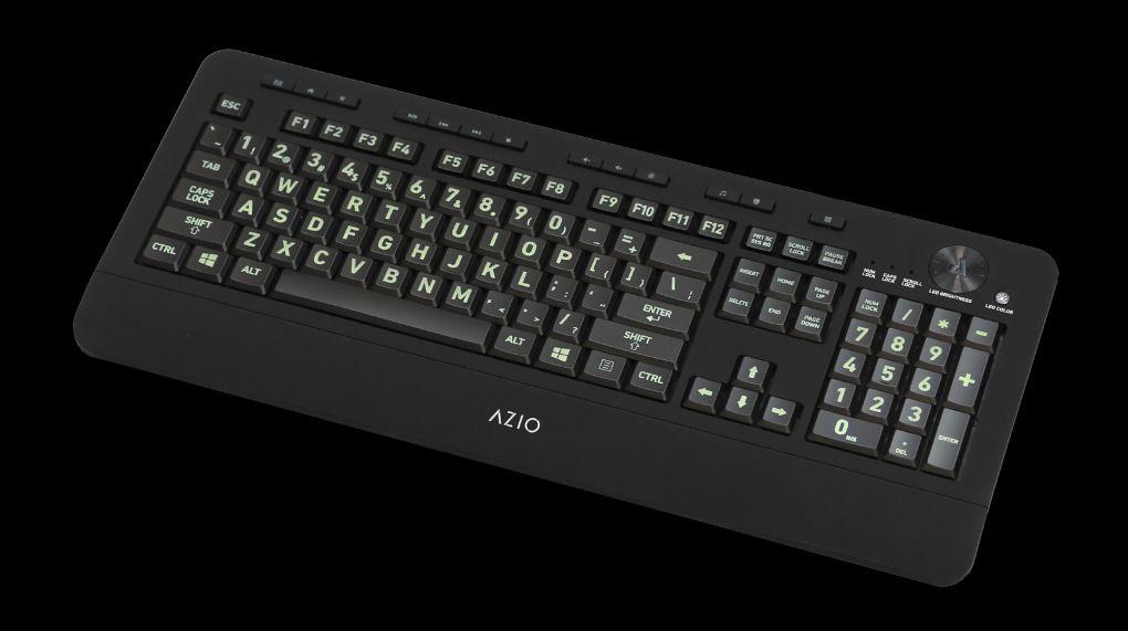 522d6191a82 ... Vision Backlit Large Print 5 Backlight Colors USB Keyboard. Image 1.  Loading zoom