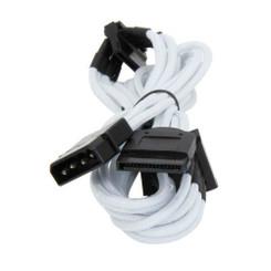 Bitfenix BFA-MSC-M4SA20WK-RP (White) Alchemy Multisleeved 20cm 4Pin Molex to 4xSATA Power Adapter Cable