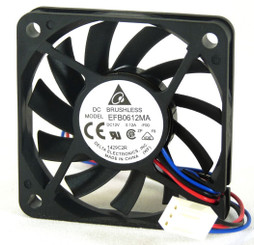 Delta EFB0612MA-F00 12V DC 60X10mm Fan, 3Pin, RPM Sensor