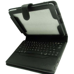 Lepa IP-001-BK Integrated Bluetooth keyboard iPad case with Magnetic Flap
