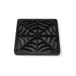 EverCool FGP-80 80mm Plastic Fan Filter, Black