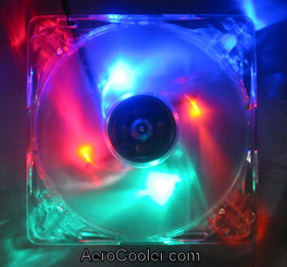 EverCool Quad Color (Blue,Green,Red,Orange) 120mm 4 LED Fan  3Pin