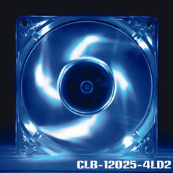 EverCool CLB-12025-4LD2 120x25mm Blue LED Fan