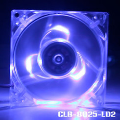 Evercool CLB-8025-LD2 80mm Fan w/ 3 Blue LED (LD8025B-EC2)