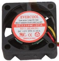 EverCool EC2510M12CA 25x10MM BALL BEARING FAN, 3PIN