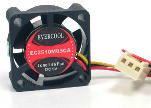 EverCool EC2510M05CA 25mm x 10mm 5V 3Pin Fan