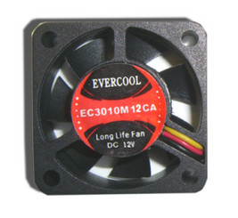 EverCool EC3010M12CA 30x10mm 12V DC Fan, 3Pin
