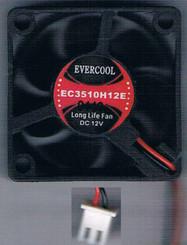 EverCool EC3510H12E 35mm x 35mm x 10mm EL Bearing 12V Fan, 2Pin