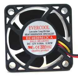 Evercool EC4020M12CA DC 12V 40X40X20MM BALL BEARING FAN - 3 Pins
