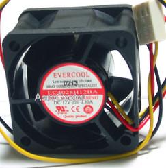 EverCool EC4028H12BA 40x40x28mm Ballbearing Fan, 3Pin