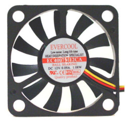 Evercool EC4007M12CA 40x40x7mm 12V Ballbearing Fan, 3Pin