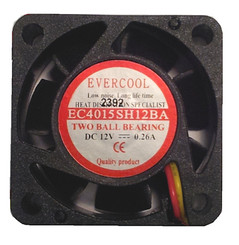 Evercool EC4015SH12BA 40x15mm Dual Ball Bearing High Speed Fan, 3Pin