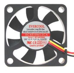 Evercool 45x10mm 3pin Fan (EC4510M12CA)