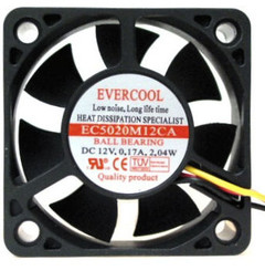 EVERCOOL EC5020M12CA 50x50x20mm Fan, 3Pin