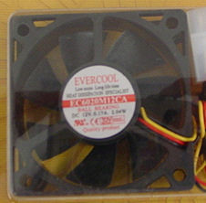 EverCool EC6020M12CA 60x20mm Ball Bearing Fan, 3pin