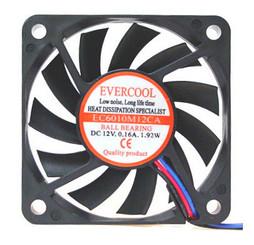 EVERCOOL EC6010M12CA 60X60X10MM Fan Ballbearing 3Pin