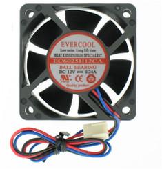 EverCool EC6025H12CA 60x60x25mm Case Fan, 3Pin