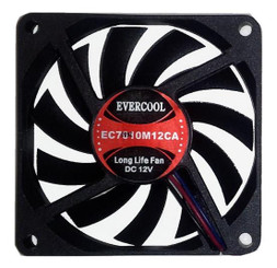 EverCool EC7010M12CA 70x70x10mm Fan, 3Pin