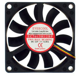 EverCool EC7015H12BP 70x70x15mm 12v Dual Ball 4Pin PWM Fan