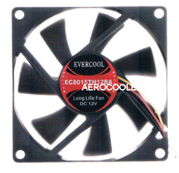 Evercool EC8015TH12B 80x80x15mm Fan, 3Pin
