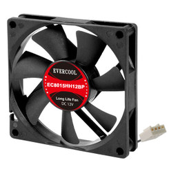 EverCool EC8015HH12BP 80x15mm PWM Fan, 4Pin PWM