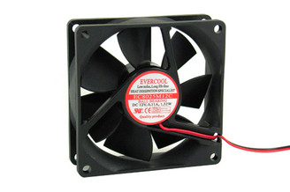 Evercool EC8025M12C-A2P 80x80x25mm Ballbearing Fan, 2Wire, 2Pin
