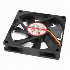 EverCool EC8015L12CA 80x80x15mm Ball Bearing Low Speed Quitet Fan, 3Pin