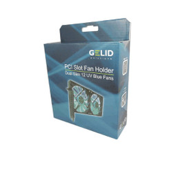 Gelid SL-PCI-02 PCI Slot Fan Holder (Dual 120mm UV Blue Fan)