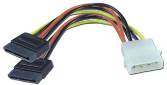6inch SATA Power Y Cable (4Pin Molex to Dual 15pin SATA Power) GC6ATAM2
