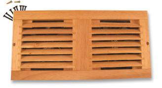 Dual 120mm Wooden Oak Home Theather Cabinet Fan Grill