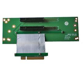 RC27332X8C7V3 2U 2-slot PCIE X8 Flexible Riser Card w/ 7cm ribbon