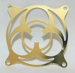 80mm Stainless Steel Biohazard Fan Grill (Gold)