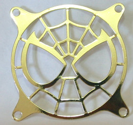80mm Stainless Steel Spiderman Fan Grill (Gold)