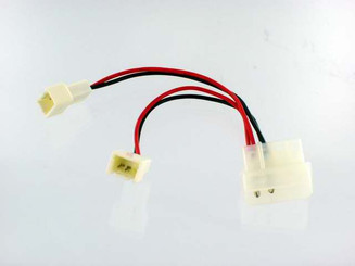 CB-YA-224 4Pin Molex (2 Wire Male Pin) to 2 X 3Pin (Male) Y Adapter