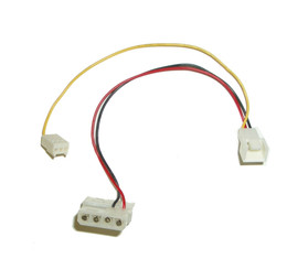 3 pin to 4 pin adapter cable with rpm sensor