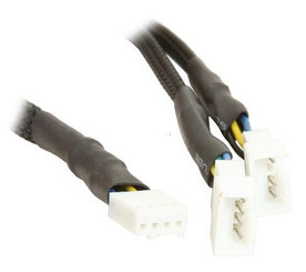CB-PWM-YS 4Pin PWM (F) to Dual PWM (M) Y Cable, 12in