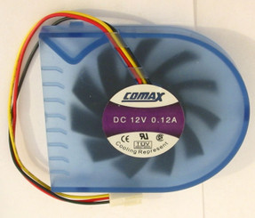 Comax DC 12V 0.12A Mobile Rack Fan w/ 3Pin 3Wire Connector