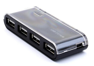 RH-201 USB2.0 4 Port Aluminum Mini Hub