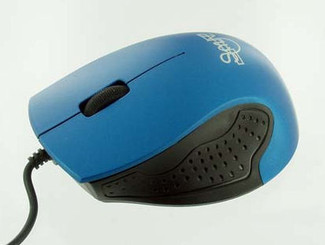 Skyline 800dpi Optcal Rubber Grip USB Mouse (Blue)