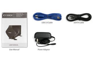 ICY DOCK MB080U3S-1SB BLIZZARD USB3.0/eSATA External HDD Enclosure