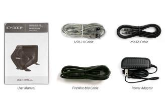 ICY DOCK MB080USEB-1SB BLIZZARD FW/USB2.0/eSATA External HDD Enclosure