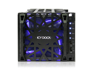 ICY DOCK MB074SP-1B Black Vortex 4 X 3.5 SATA HDD 5.25 Bay Hot Swap Cage