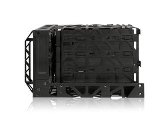 Icy Dock Black Vortex MB074SP-B 3.5inch SAS/SATA 4 in 3 Module Cooler Cage