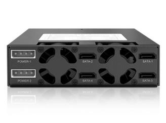 Icy Dock MB994SK-1B ToughArmor 4 x 2.5in SATA/SAS HDD/SSD Mobile Rack