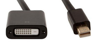 Kingwin MDP-3 Mini DisplayPort (M) to DVI-D (F) Adapter/Active