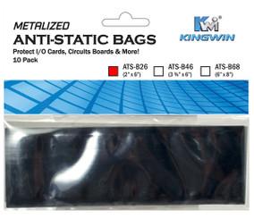 Kingwin ATS-B26 ANTI-STATIC BAG 2inx 6in, 10pcs/bag  ( For Memory Card )