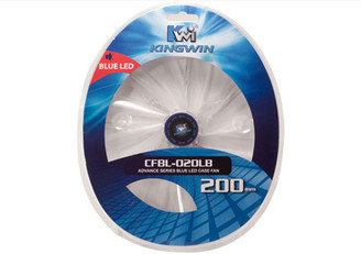 Kingwin CFBL-020LB 200x200x20mm Blue LED Fan