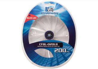 Kingwin CFBL-020LB 200x200x20mm Blue LED Fan